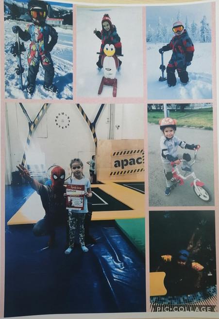 """Фотовыставка """"Спортивные игры на прогулке в нашей семье"""""""