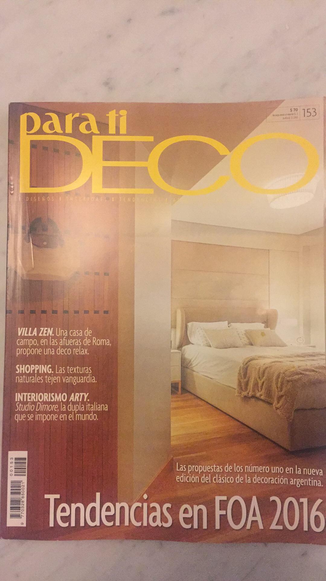 Para Ti Deco, Oct.2016