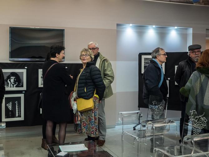 Exposition Noir et Blanc en janvier 2020 à l'Office du tourisme et du Vin de Pineuilh