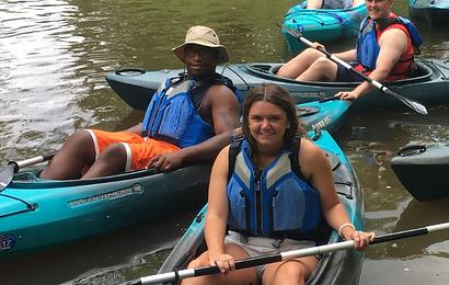 People kayaking at LaDue
