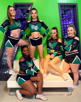 Adult Cheerleading Stunt and Tumble