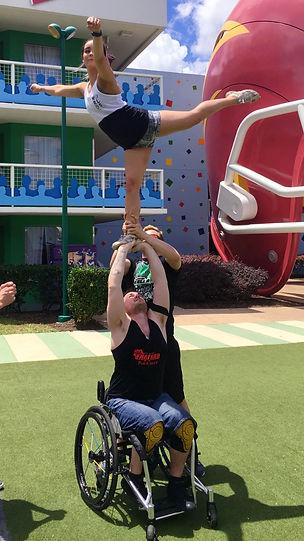 ParaCheer stunt wheelchair stunting team england world championships