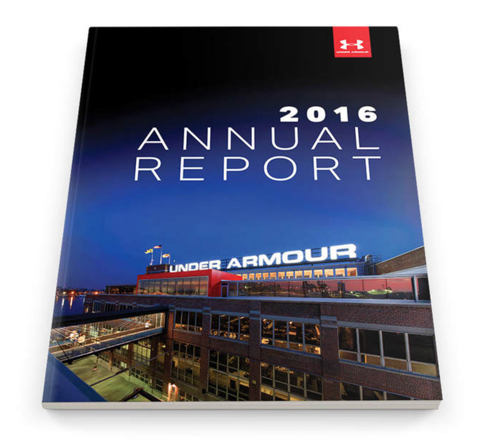 Under Armour Annual Report 1Under Armour Annual Report Becca Breslin Creative Director