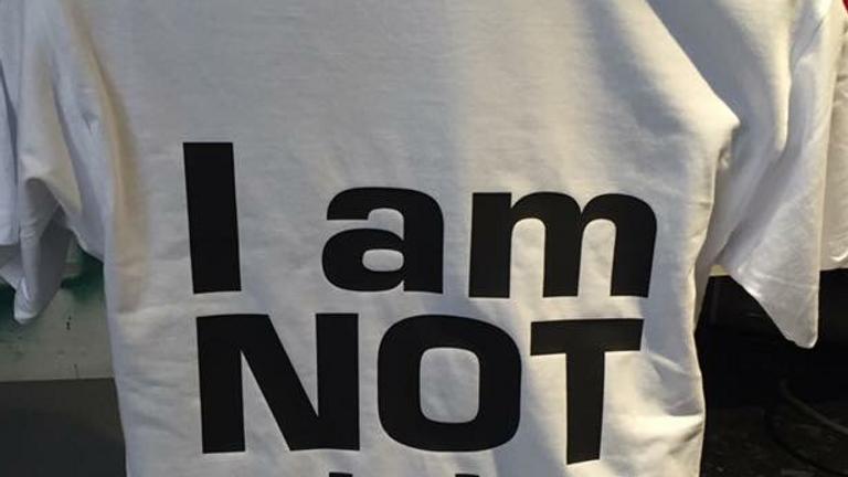 I am not a label Tshirt