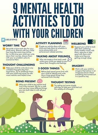 mental health activities children parent