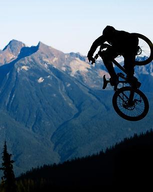 Jumping Mountain Biker