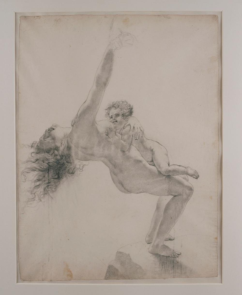 Etude pour l'enfant et sa mère, Montargis, musée Girodet, inv. 82.9