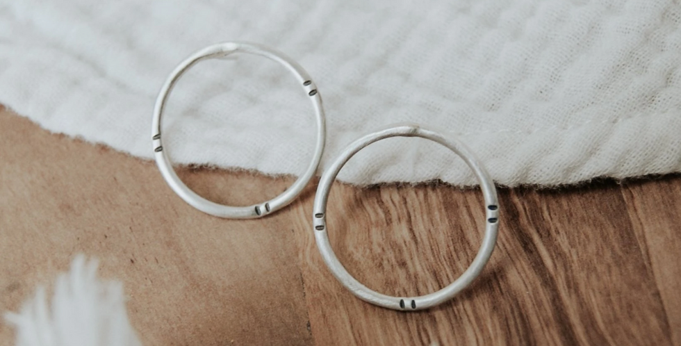 Moonburst Stud Earrings : Third Hand Silversmith