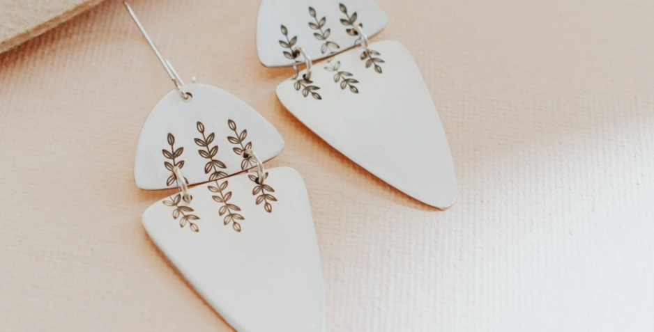 Fern Dangle Earrings I : Third Hand Silversmith