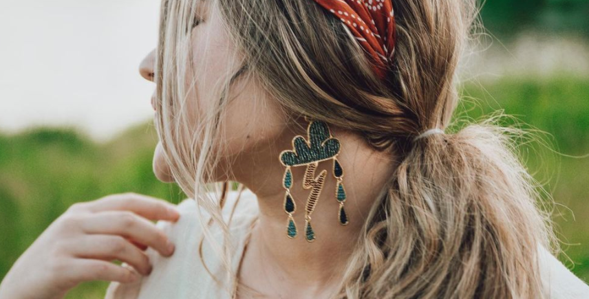 Thunder & Rain Earrings : Mountain Maiden Jewelry
