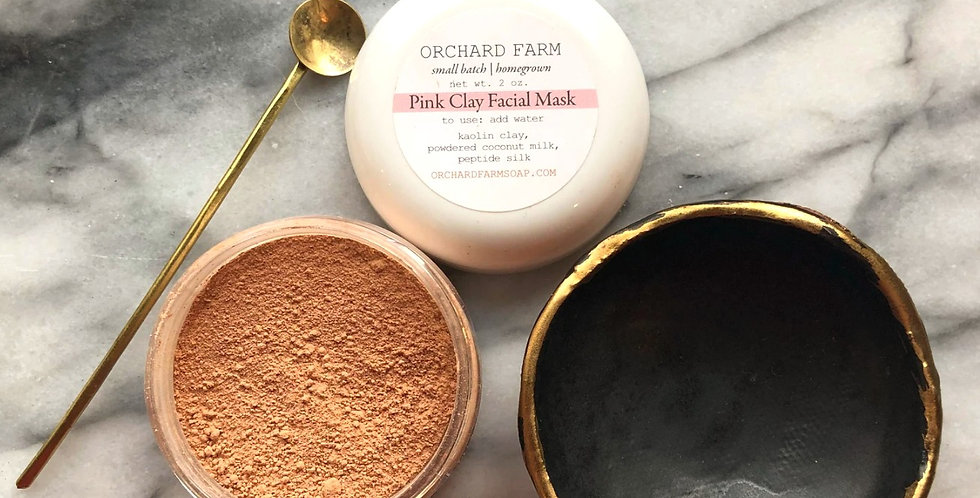 Pink Kaolin Facial Mask : Orchard Farms