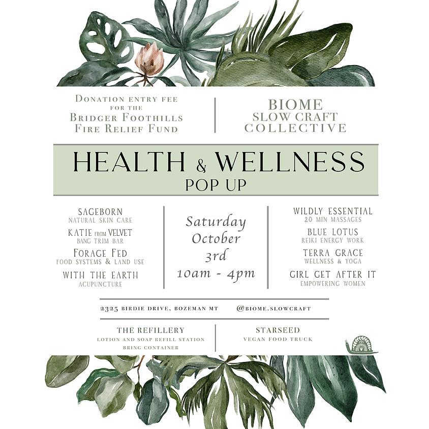 Health and Wellness Pop-Up
