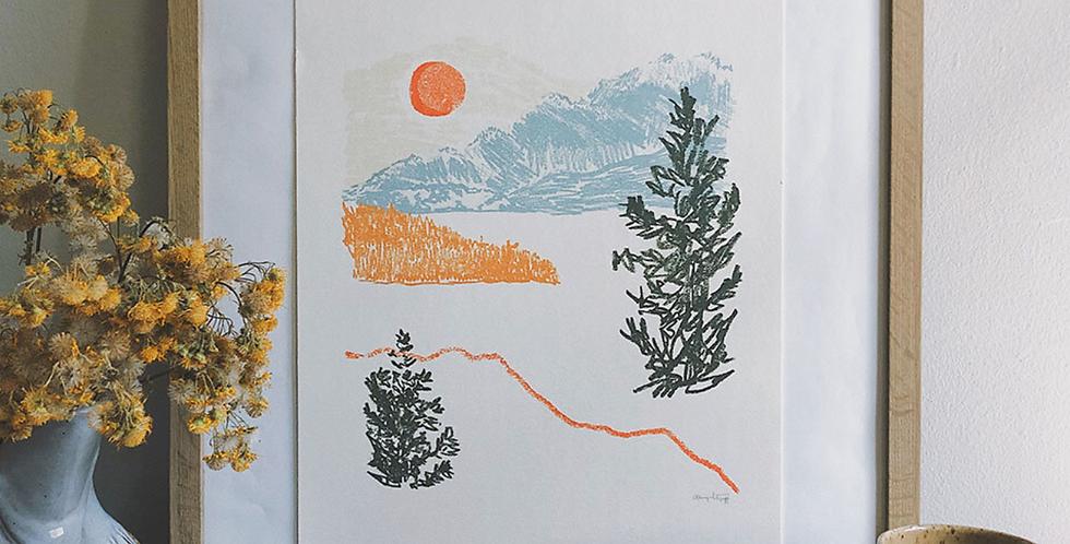 Beyond The Lake Print : Here Studios