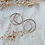 Thumbnail: Quarter Moon Studs : Third Hand Silversmith