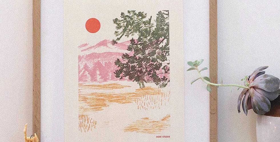 Afternoon Hike Print : Here Studios