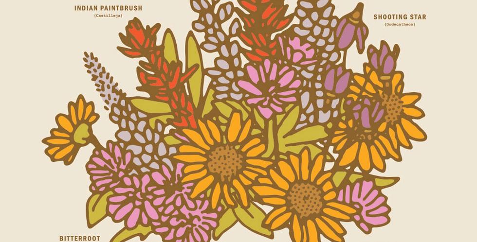 Wildflowers of Montana Print : Here Studios