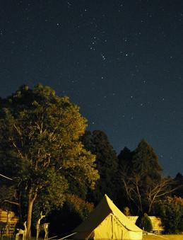 こんな星空が見えることも