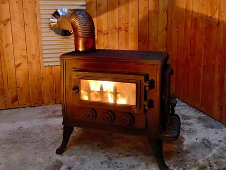 暖炉が入りました!