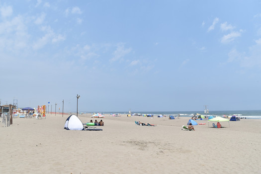 九十九里海岸まで約4km、本須賀海岸12km