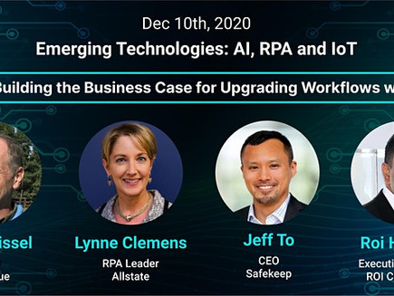Safekeep at InsurTech NY: Emerging Technologies – AI, RPA and IoT