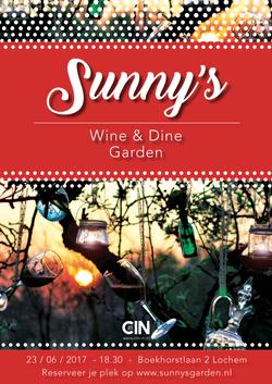 Poster sunny's wine & dine garden