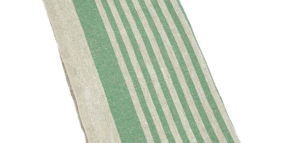 Linen Tea Towel - Green Tread