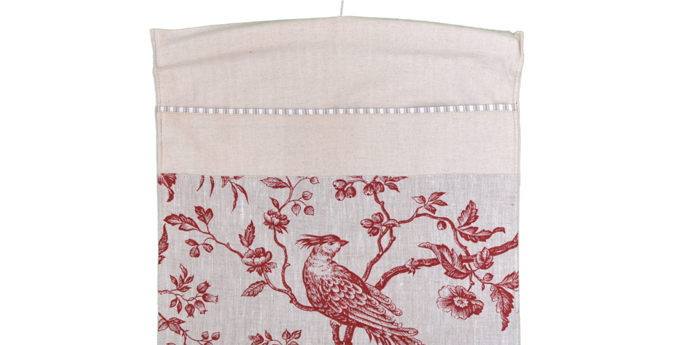 Peg Bag - Toile Rouge