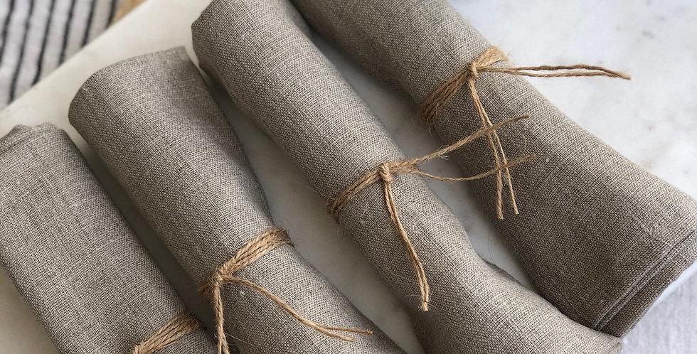Pure European Linen Napkins - Set of 4