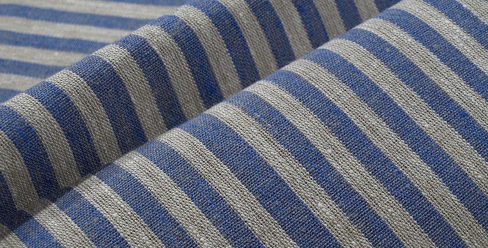 Linen Table Runner - Blue Tread