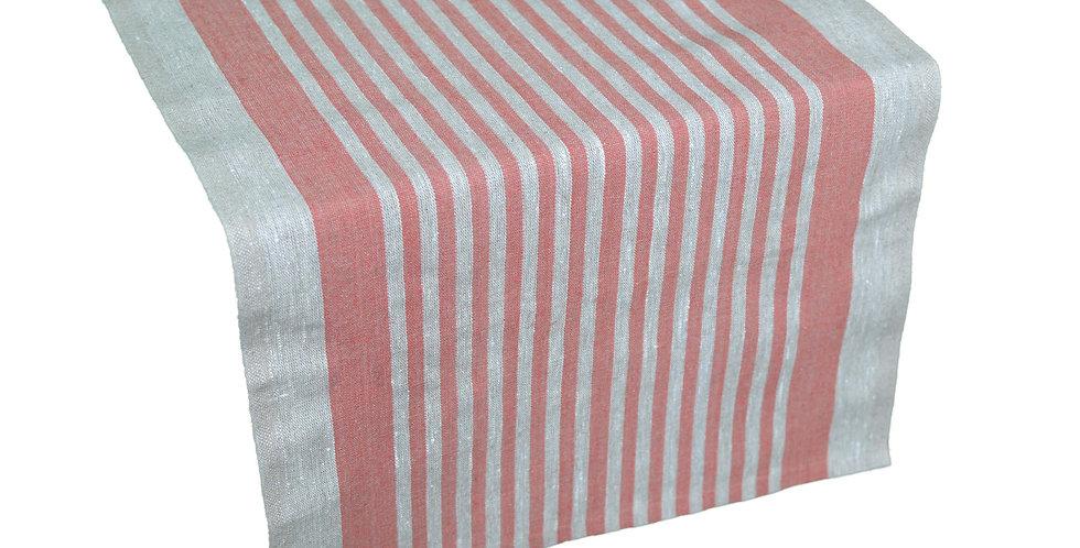 Linen Table Runner - Red Tread