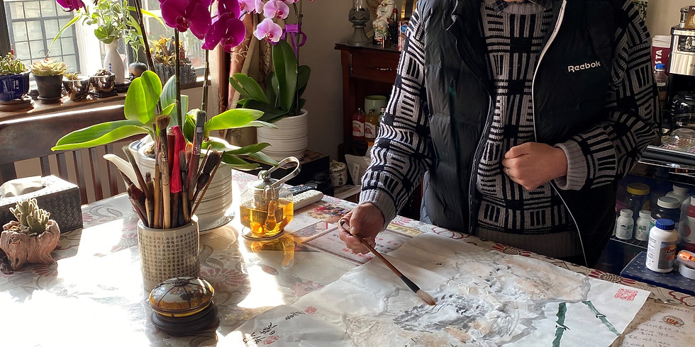 Calligraphy Fun in a Local Artist's Home
