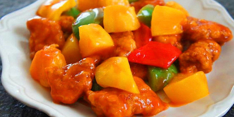 Sweet & Sour Pork and Fried Rice
