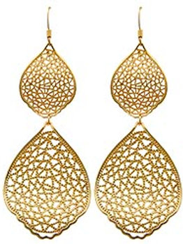 Wavy Filigree Earrings