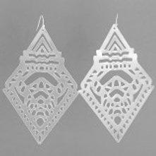 Laser Cut Diamond Earrings