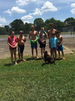 BSAA swimmers help train a certified search and rescue dog