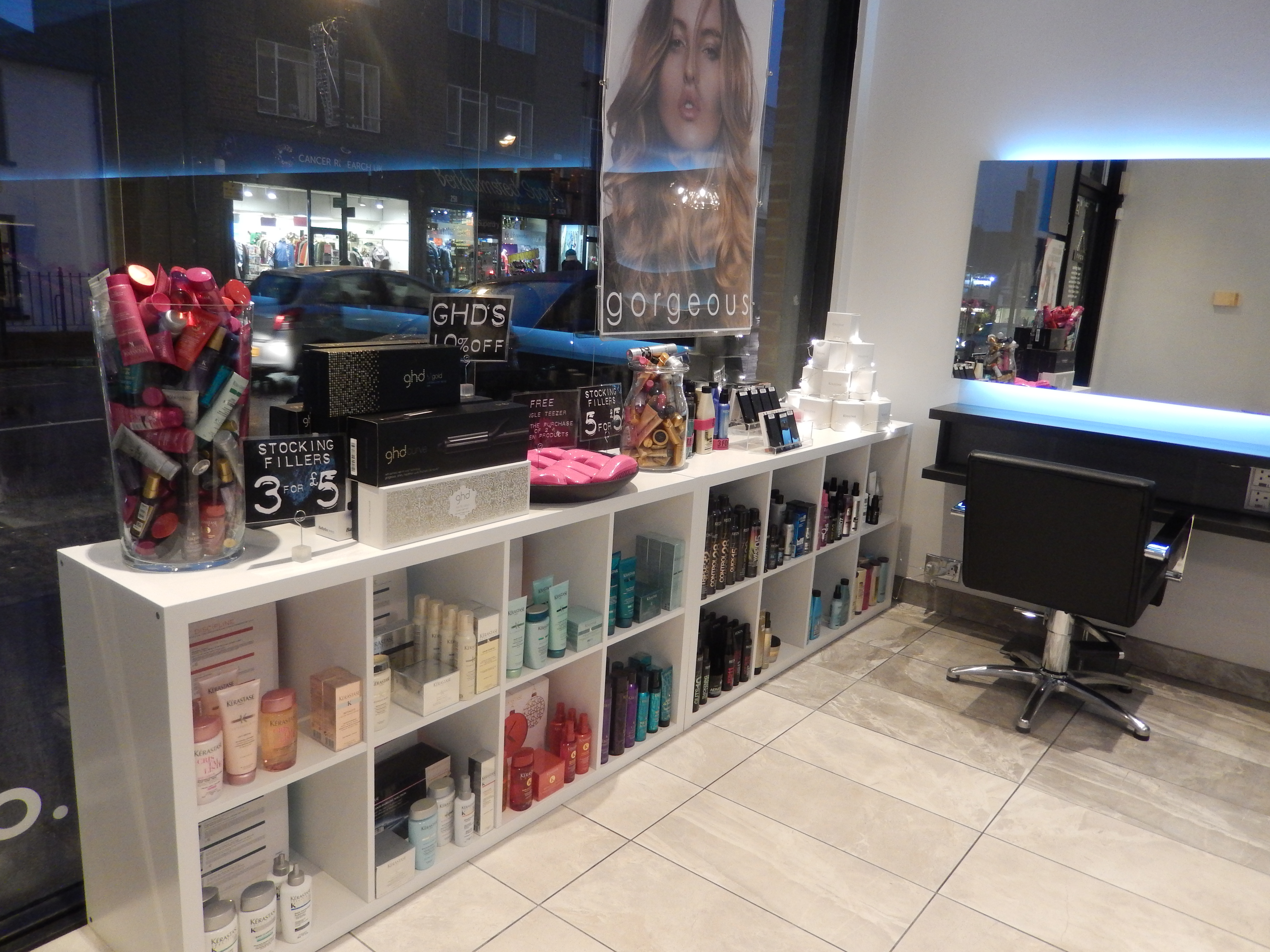 Salon Retail area