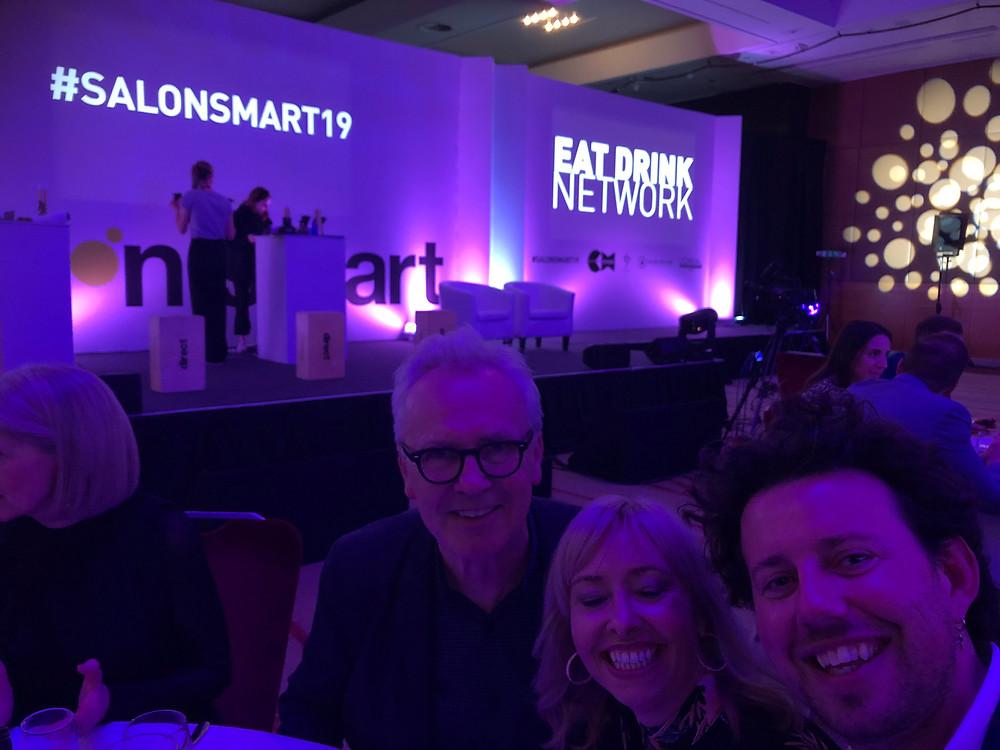 Enjoying the company of Andrew Collinge at Salon Smart 2019, inspiring!