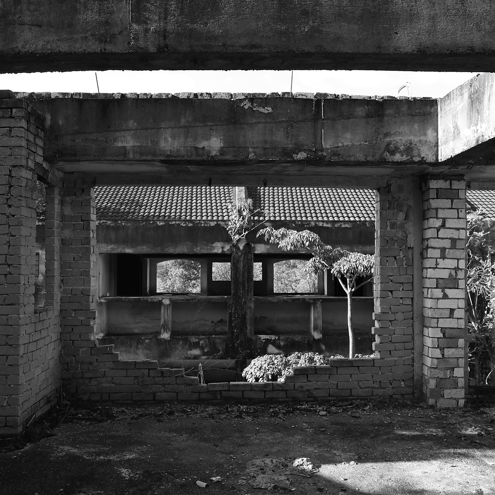 Derelict housing project, Hulu Selangor, Malaysia