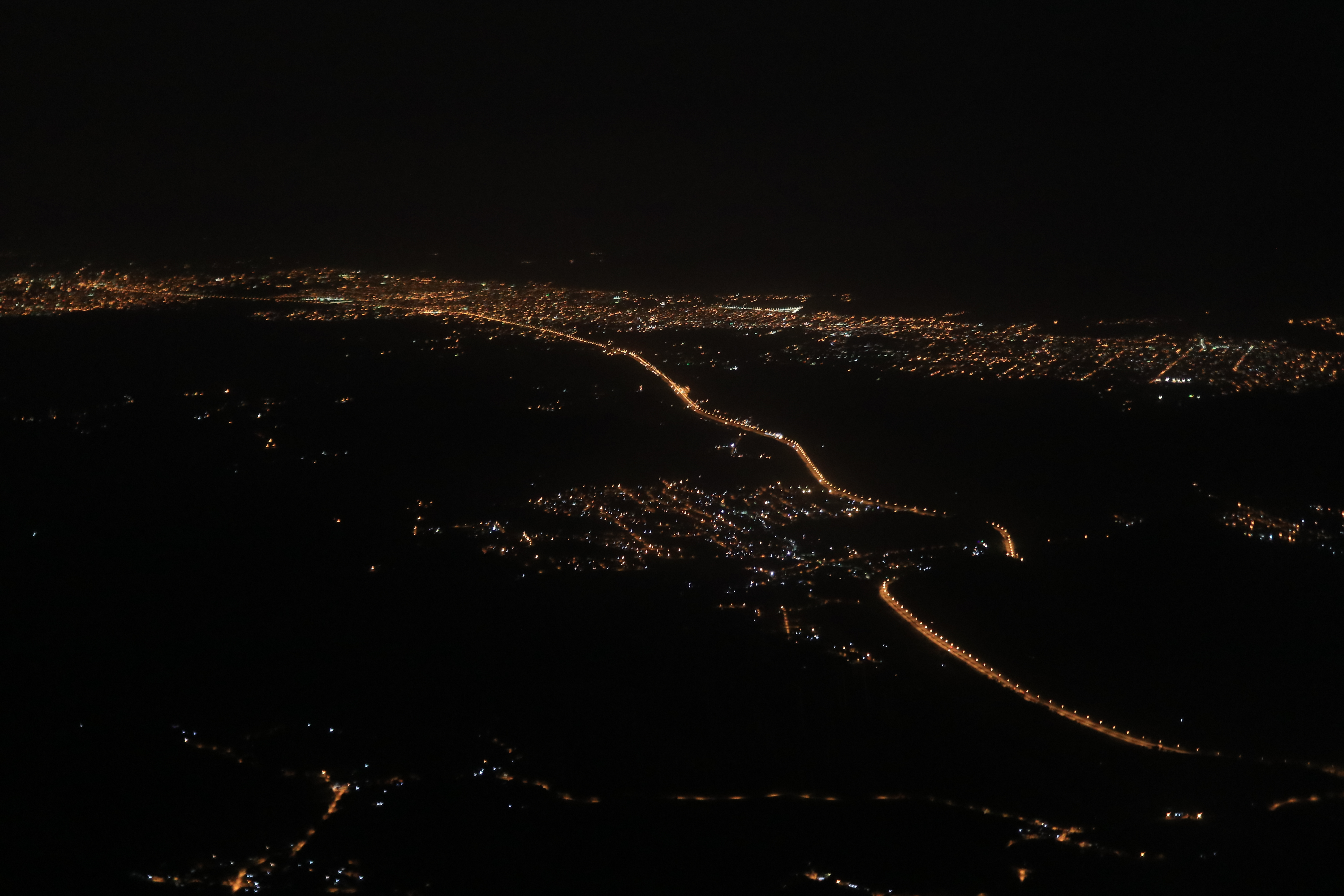 Rio de Janeiro from above at night