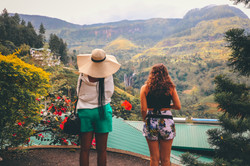 Looking over the Ramboda Falls