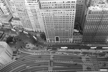 Look down NYC.