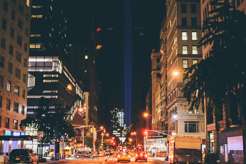 9/11 Tribute Light on 5th Ave.