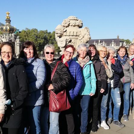 Damen 40 besuchen Leipzig und Dresden