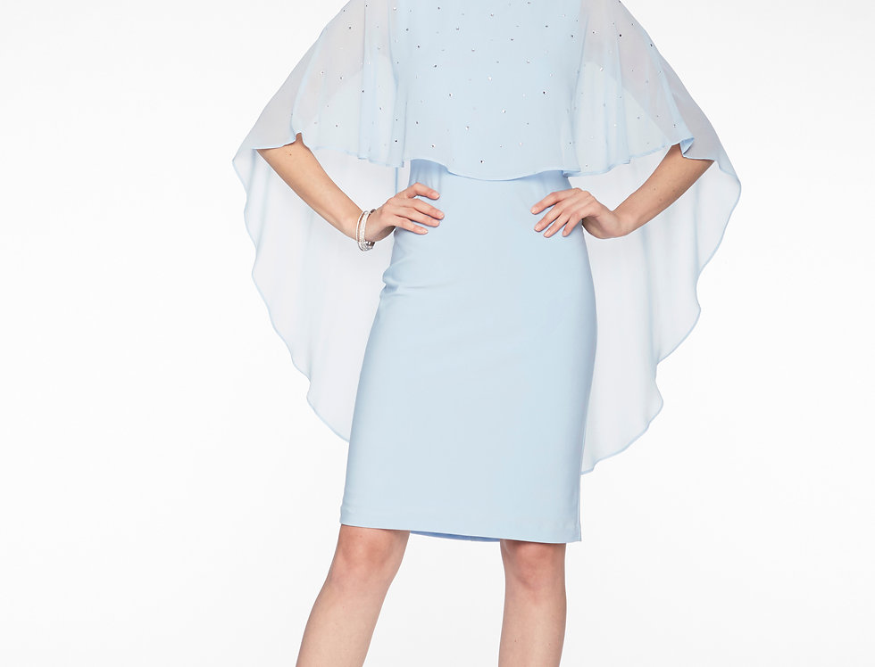 Chiffon Overlay Dress