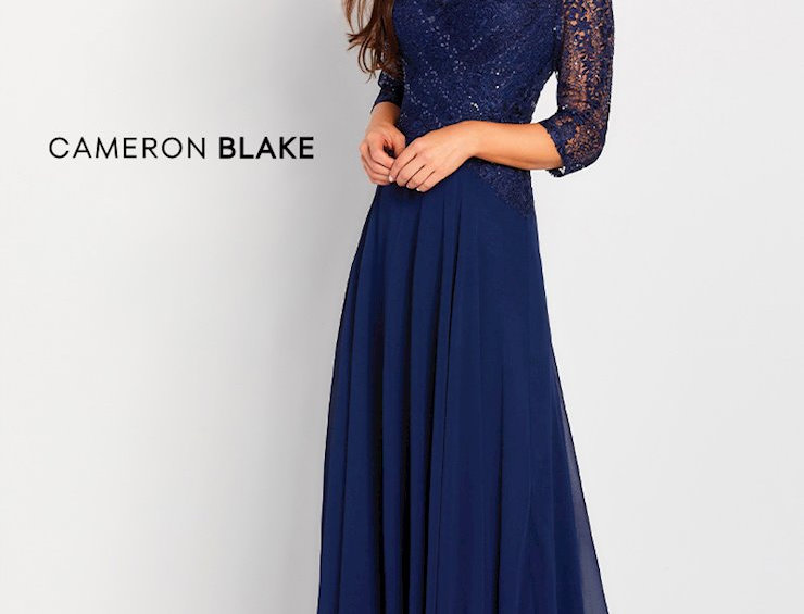 Lace & Chiffon A-Line Gown