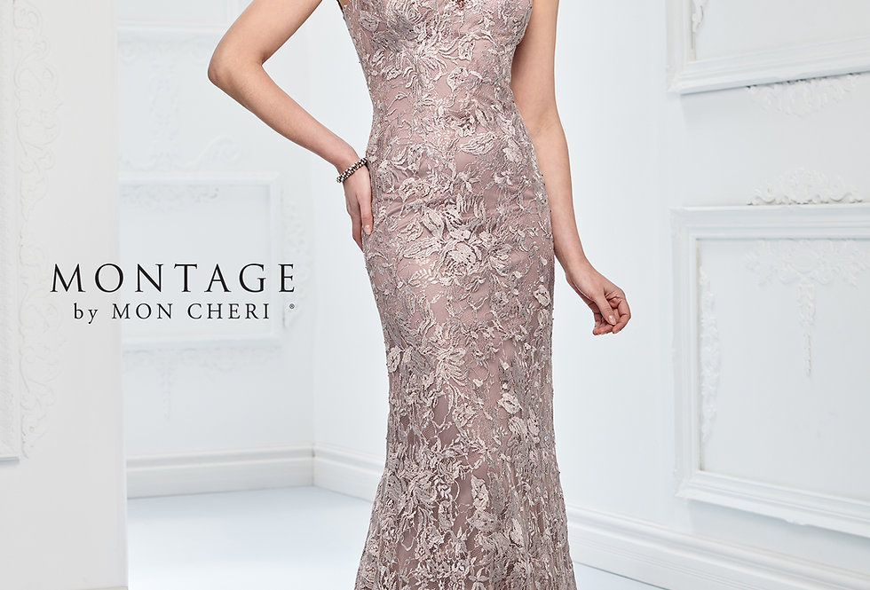 Over-Lace Fit & Flare Gown