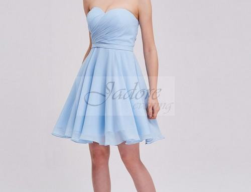 Sweetheart Strapless Sparkle Chiffon Dress