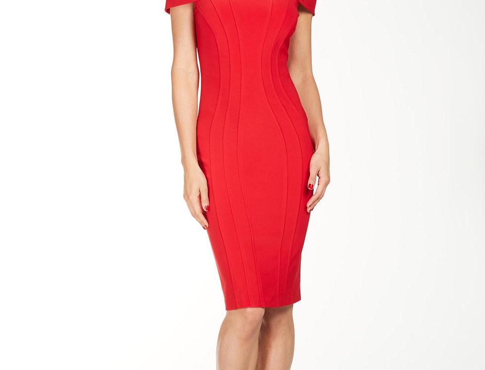 Off-Shoulder Knit Dress