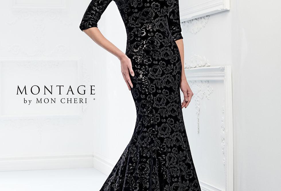 Sequin Lace Trumpet Gown
