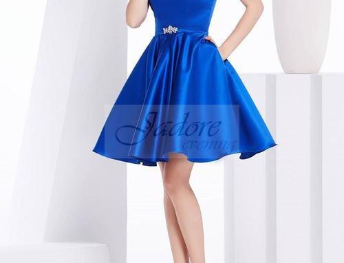 Strapless Satin A-line Dress